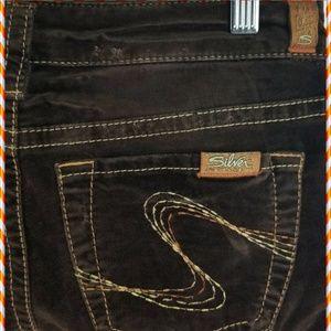 Silver Jeans Corduroy Tina 27/33 Brown Nice